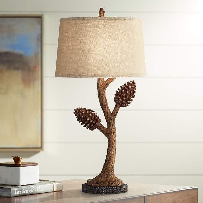 Pine Tree Rustic Brown Branch Table Lamp 75m80 Lamps Plus