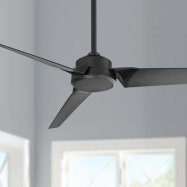"52"" Modern Forms Roboto Matte Black Wet Rated Ceiling Fan"