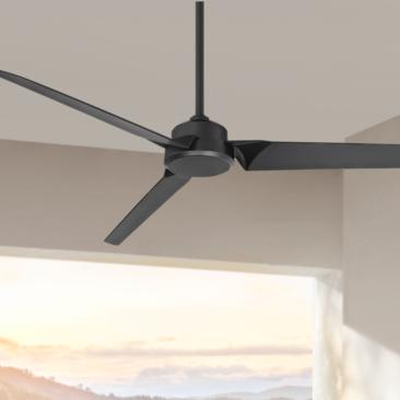 "62"" Modern Forms Roboto Matte Black Wet Rated Ceiling Fan"