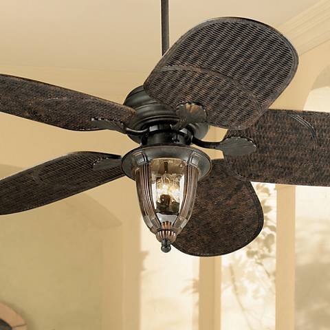 "52"" Casa Vieja Tropical Veranda Bronze Outdoor Ceiling Fan"