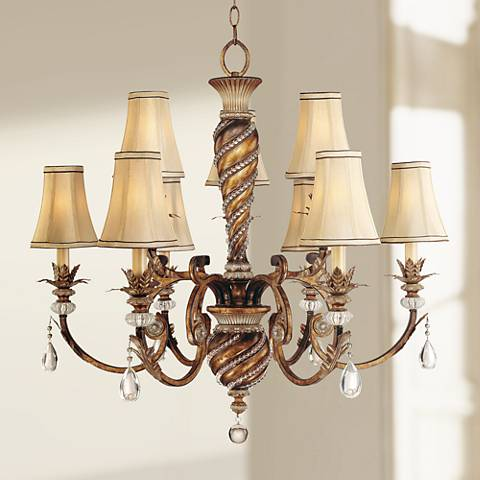 "Minka Aston Court Bronze 33 1/4"" Wide Large Chandelier"
