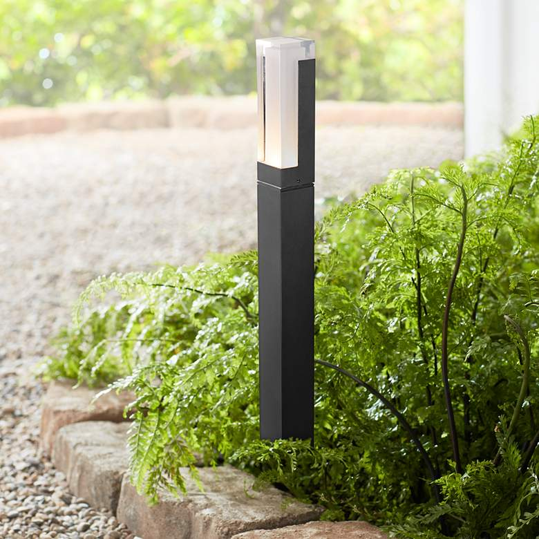 "Morgan 23 1/2"" High Black LED Landscape Path Light"