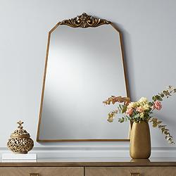 "Morrey 25 3/4"" x 34 1/4"" Crown Top Angled Wall Mirror"