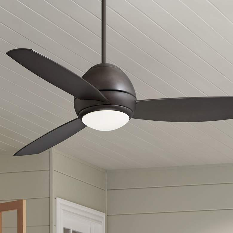 "52"" Emerson Curva Oil-Rubbed Bronze LED Outdoor Ceiling"