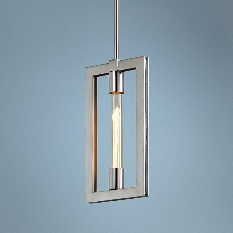 "Enigma 7 3/4"" Wide Silver Leaf Mini Pendant Light"