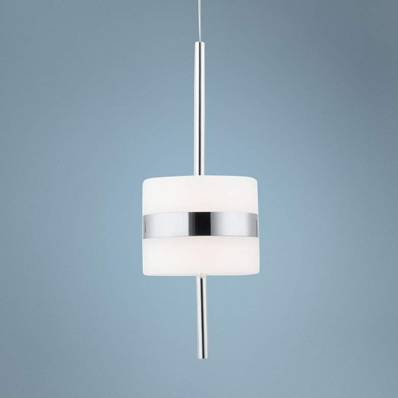 "dweLED Smore 4"" Wide Chrome LED Mini Pendant"