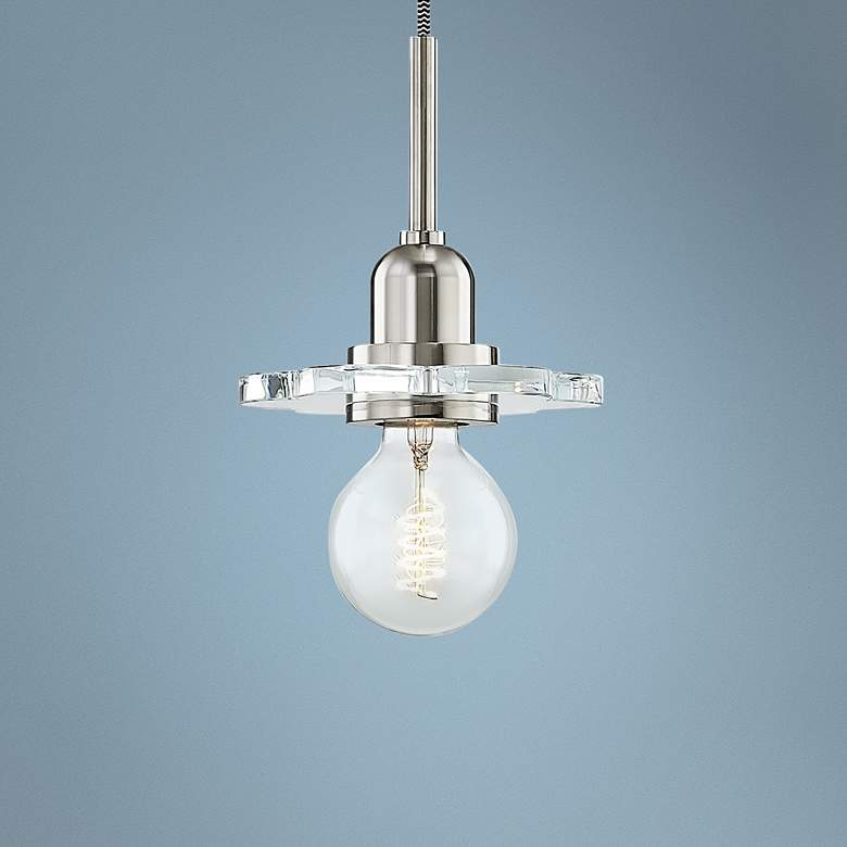 "Mitzi Alexa 6"" Wide Polished Nickel Mini Pendant"