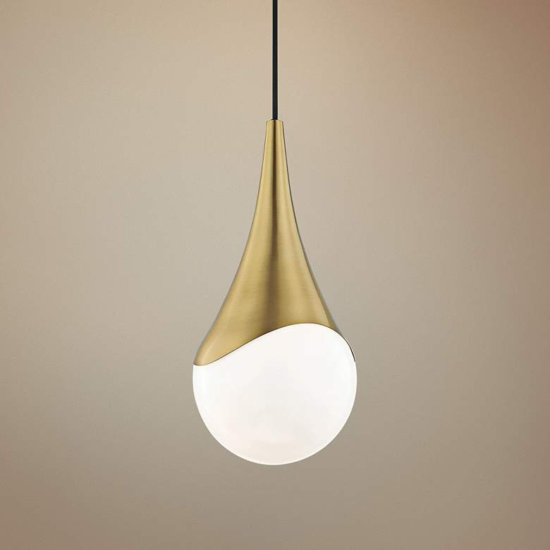 "Mitzi Ariana 7 1/2"" Wide Aged Brass Mini"