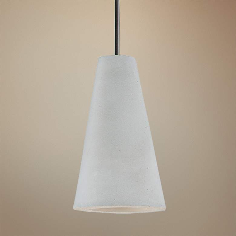 "ET2 Micro 2 1/4"" Wide Gray Cement LED Mini Pendant Light"