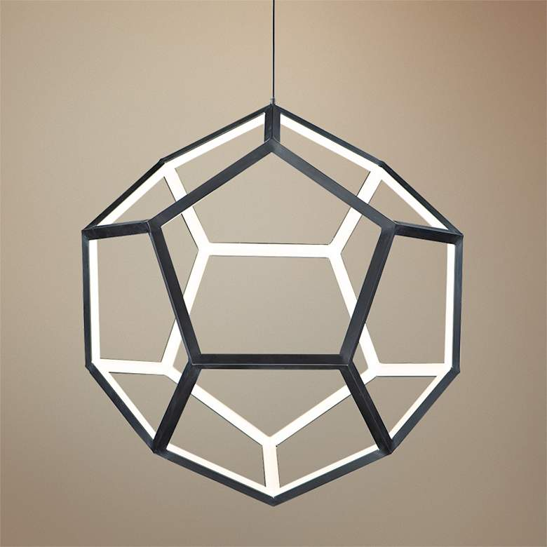 "ET2 Penta 22"" Wide Black LED Pendant Light"