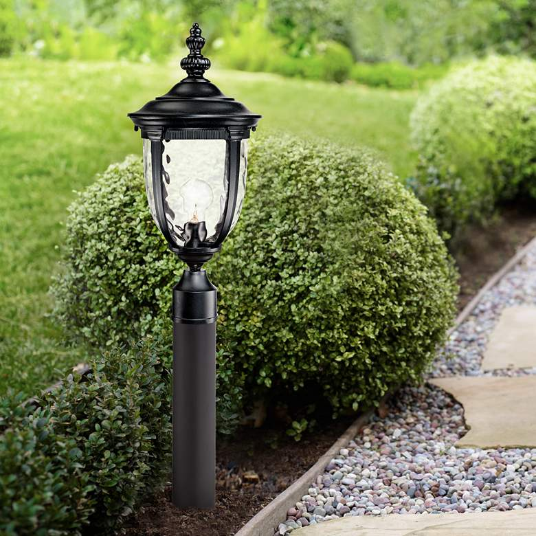 "Bellagio 33"" High Black Path Light with Low Voltage Bulb"
