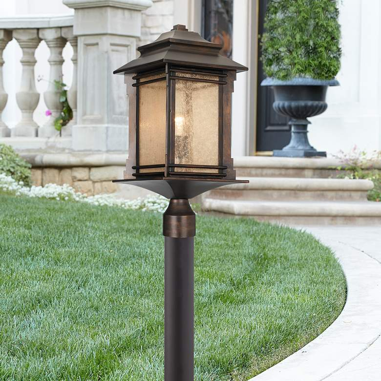 "Hickory Point 37 1/2""H Bronze Path Light w/ Low Voltage Bulb"