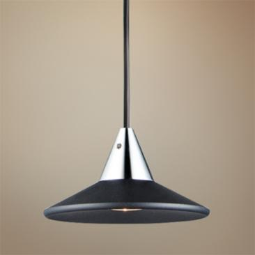"ET2 Micro 3 1/2"" Wide Black LED Mini Pendant Light"
