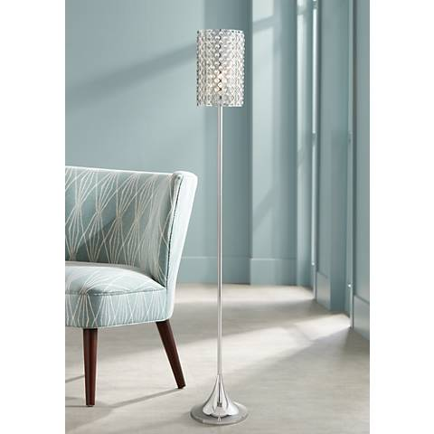 Possini Euro Glitz Crystal And Chrome Floor Lamp