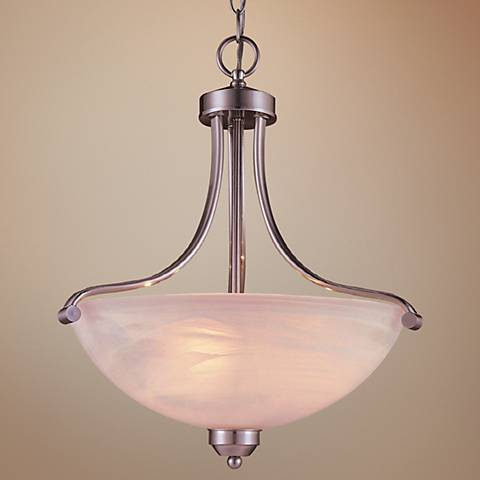 "Paradox Brushed Nickel Energy Efficient 20"" H Pendant Light"