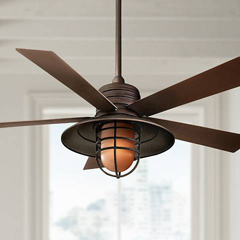 54 rainman oil rubbed bronze ceiling fan 77752 lamps plus 54 rainman oil rubbed bronze ceiling fan aloadofball Choice Image