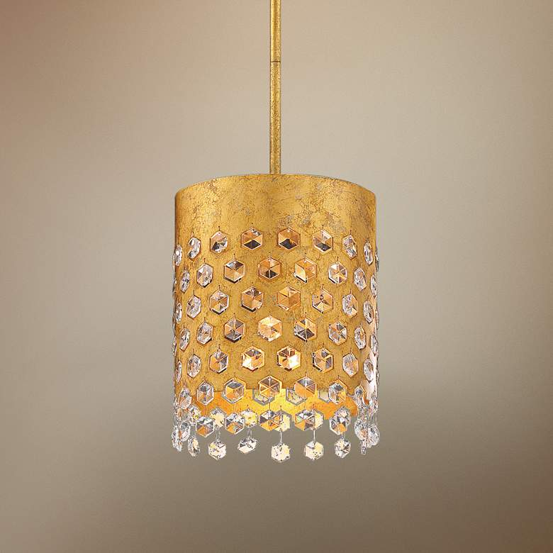 "Kingsmont 8 3/4""W Glitz Gold Leaf Foyer Mini"
