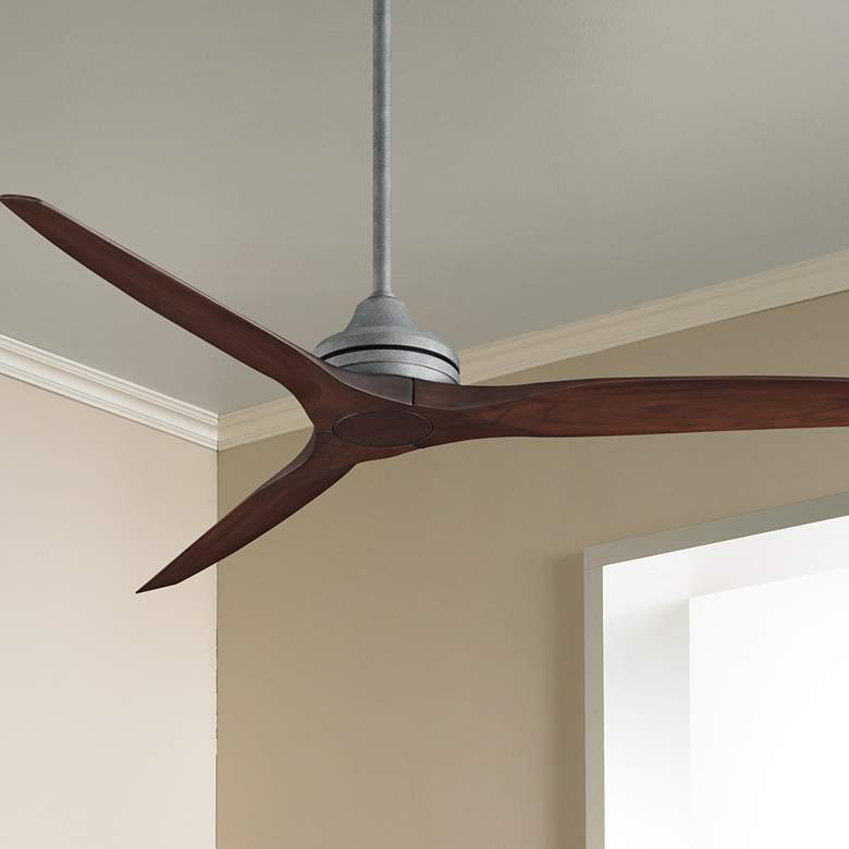"60"" Fanimation Spitfire Galvanized Whiskey Wood Ceiling Fan"