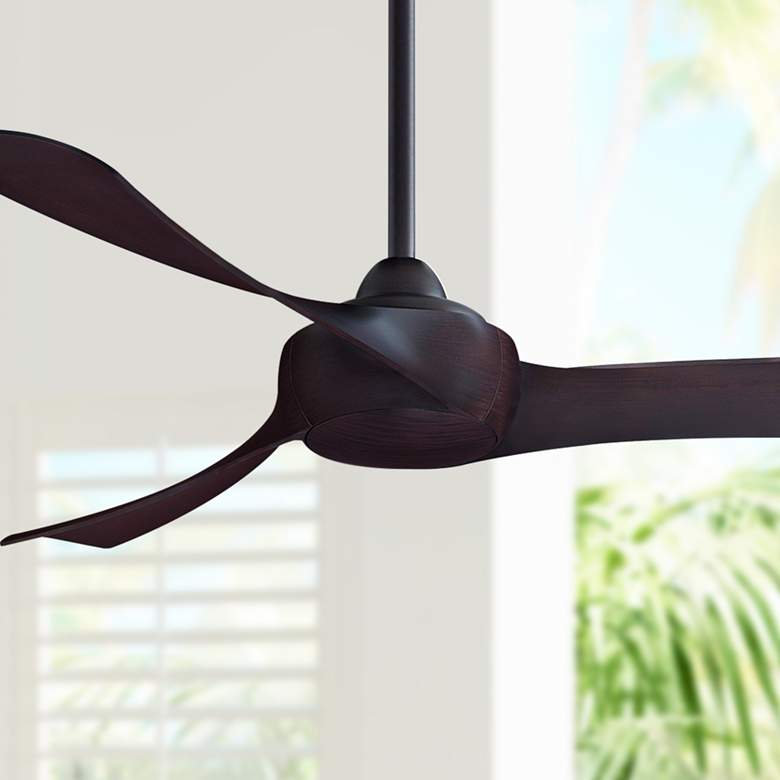 "52"" Fanimation Wrap Dark Bronze Damp Ceiling Fan"