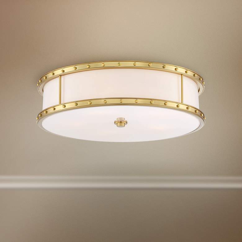 "Flush Mount 20 1/4"" Wide Liberty Gold Drum"
