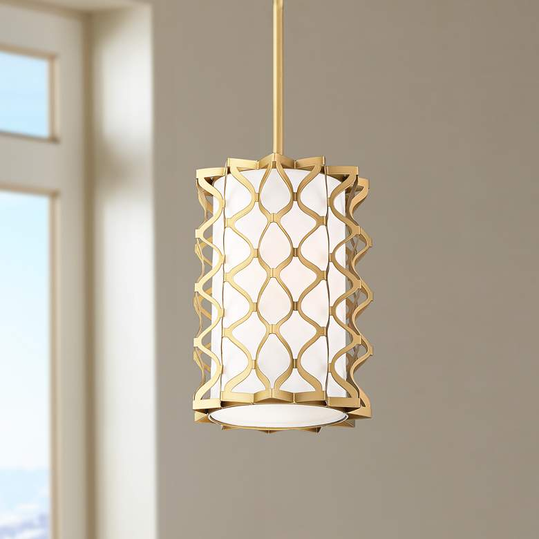 "Possini Euro Brant 8"" Wide Gold Cage Mini"