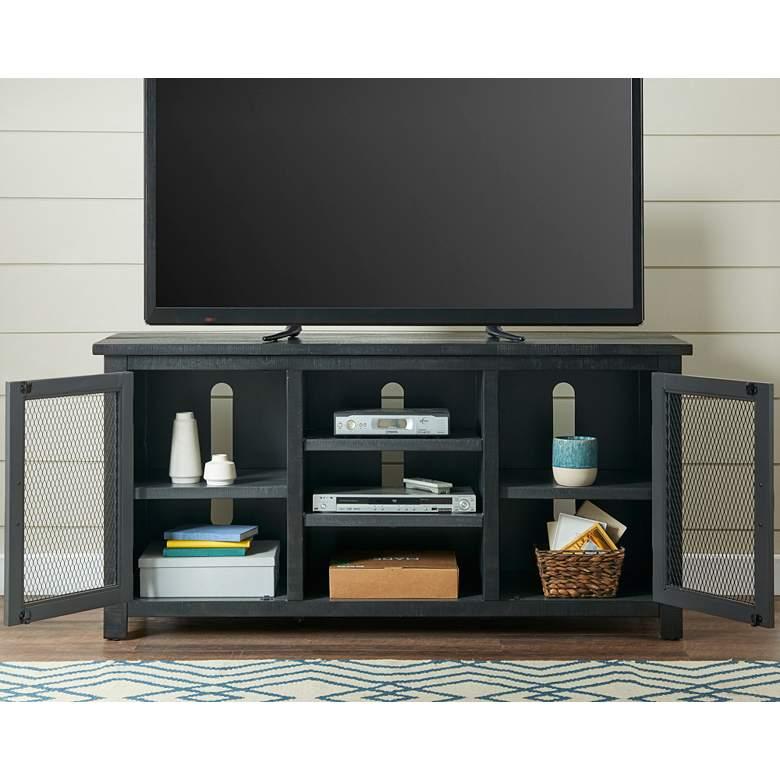 """Trent 60"""" Wide Gray 2-Door Wood TV Stand Console"""