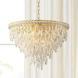 "Trenta 23 1/2"" Wide Gold and Crystal Pendant Light"