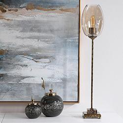 Uttermost Marconi Antique Brushed Brass Buffet Table Lamp