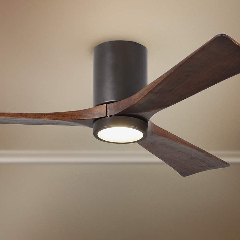 "52"" Irene-3HLK Bronze 3-Blade LED Damp Hugger Ceiling Fan"