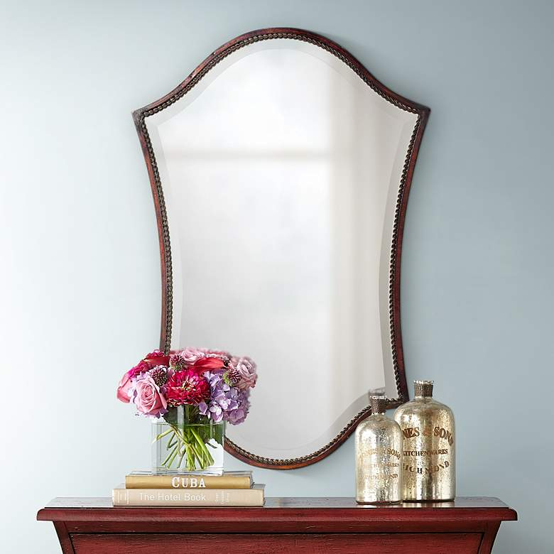 "Uttermost Abra Bronze 20"" x 30"" Wall Mirror"