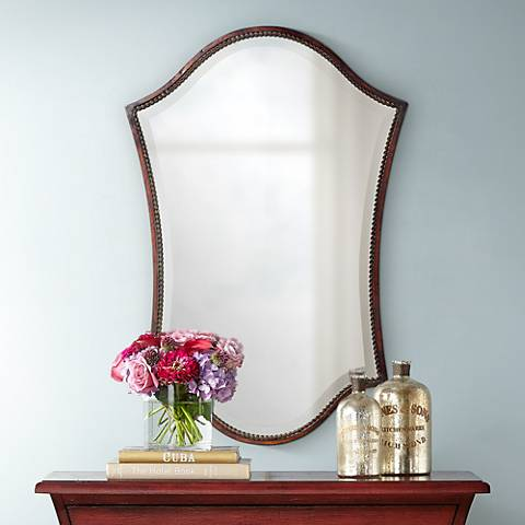 "Uttermost Abra Bronze Finish 20"" x 30"" Wall Mirror"