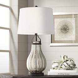 Arian Oil-Rubbed Bronze Fluted Mercury Glass Table Lamp