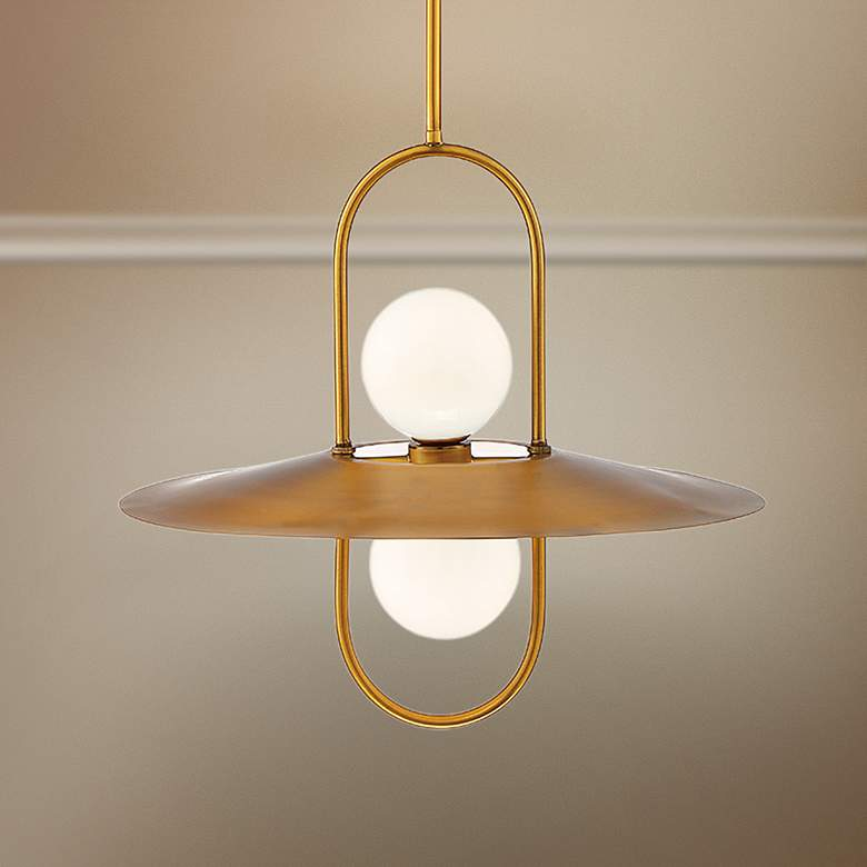"Eurofase Millbrook 20"" Wide Brass 2-Light LED Pendant"