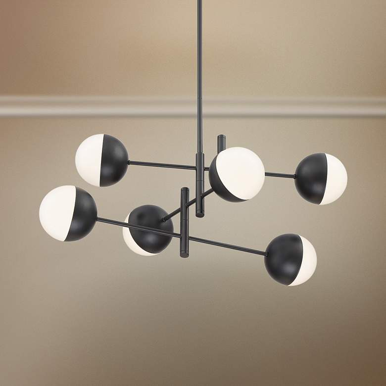 "Eurofase Fairmount 31 1/2""W Black 6-Light LED Pendant"