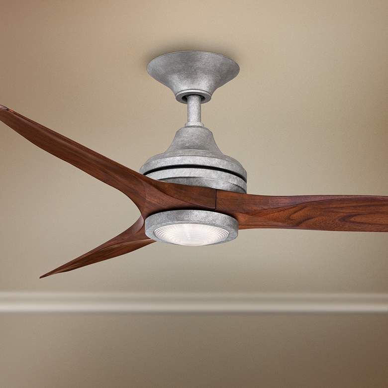 "48"" Spitfire Galvanized LED Damp Ceiling Fan"