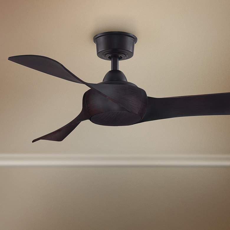 "44"" Fanimation Wrap Dark Bronze Damp Ceiling Fan"
