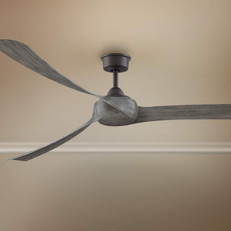 "84"" Fanimation Wrap Matte Greige Damp Ceiling Fan"