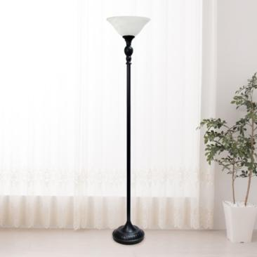 Elegant Designs Restoration Bronze Torchiere Floor Lamp