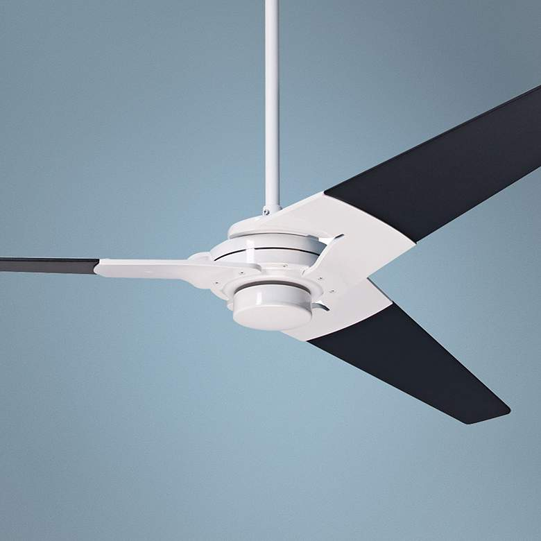 "62"" Modern Fan Torsion Black - Gloss White Ceiling Fan"