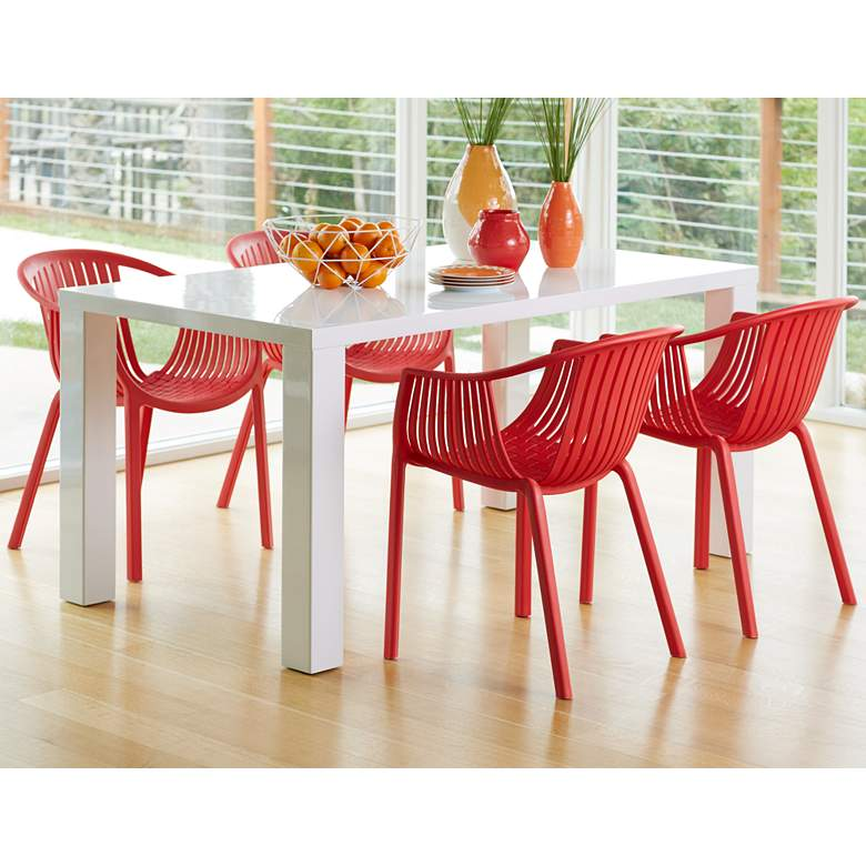 Delray Bay Red Outdoor Accent Chairs Set of 2