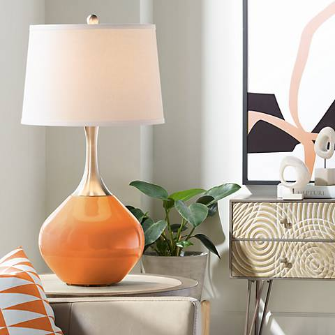 Celosia Orange Spencer Table Lamp