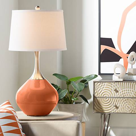 Robust Orange Spencer Table Lamp