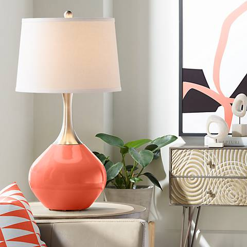 Daring Orange Spencer Table Lamp