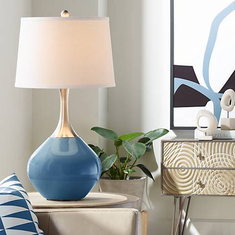 Regatta Blue Spencer Table Lamp