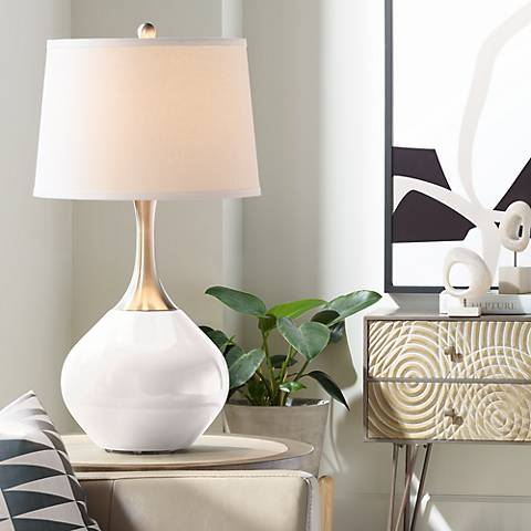 Smart White Spencer Table Lamp