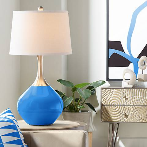 Royal Blue Spencer Table Lamp