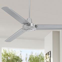 "52"" Plaza™ Brushed Nickel Damp Rated Ceiling Fan"