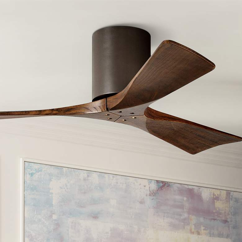 42 Matthews Irene 3 Blade Walnut Bronze Hugger Ceiling Fan 7c839 Lamps Plus