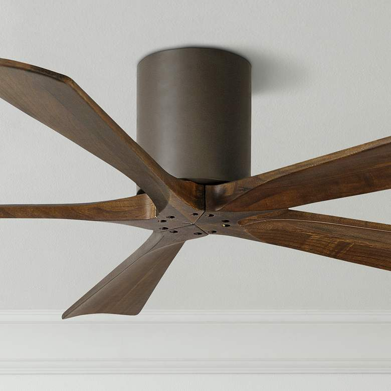 52 Matthews Irene 5 Blade Walnut Bronze Hugger Ceiling Fan 7c865 Lamps Plus
