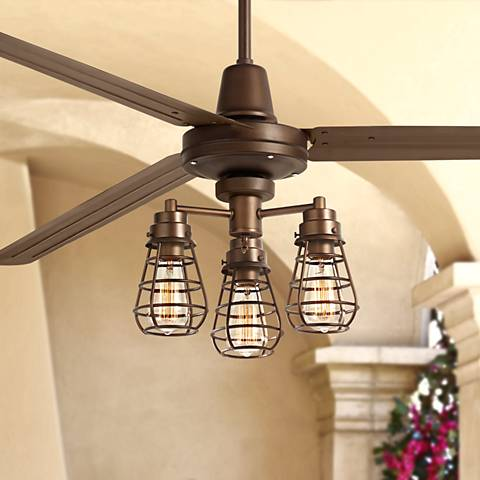 "72"" Turbina XL Bendlin Cage Oil-Rubbed Bronze Ceiling Fan"